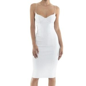 "Misha - ""Yoko"" White Bandage Dress"